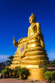12 meters high Big Buddha Image, made of 22 tons of brass in Phu — Stock Photo