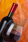 Wijn, glas en de fles — Stockfoto