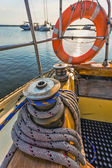 Life buoy attached to the cruise ship — Stock Photo