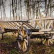 Old village wagon — Stock Photo