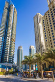 Nightlife in Dubai Marina. UAE. November 16, 2012 — Stock Photo
