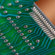 Close up of circuit board — Foto de Stock