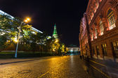 Night view of Moscow near the Kremlin — Stock Photo