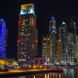 Nightlife in Dubai Marina — Stock Photo