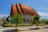 Tempel van de zwarte monnik in thailand — Stockfoto