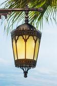 Arab street lanterns in the city of Dubai — Stock Photo