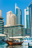 Yacht Club in Dubai Marina. UAE. November 16, 2012 — Stock Photo