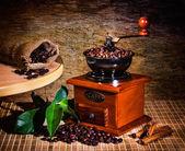 Smerigliatrice e altri accessori per il caffè — Foto Stock