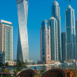 High rise buildings and streets in Dubai, UAE — Photo