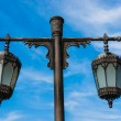 Arab street lanterns in the city of Dubai — Stock Photo