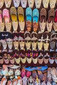 Colorful shoes in souk Dubai — Stock Photo