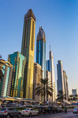 Modern skyscrapers, Sheikh zayed road — Stock Photo