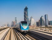 Dubai Metro as world's longest fully automated metro network — Stock Photo