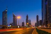 Modern skyscrapers, Sheikh zayed road — Stock Photo