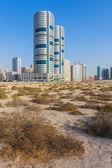 General view of modern buildings in Sharjah — Zdjęcie stockowe