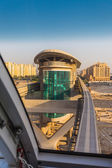 Monorail station on a man-made island Palm Jumeirah — Stock Photo