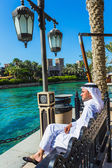 The famous hotel and tourist district of Madinat Jumeirah — Stock Photo