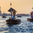 Boats on the Bay Creek in Dubai, UAE — Stock fotografie