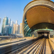 Stock Photo: Dubai Metro as world's longest fully automated metro network