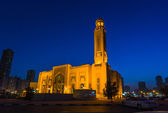 Al Noor Mosque in Sharjah at night — Photo