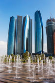 Skyscrapers in Abu Dhabi, UAE — Stock Photo