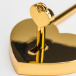 Lock in the form of a heart — Stock Photo