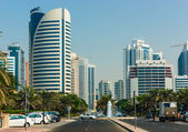 High rise buildings and streets in Dubai, UAE — Foto Stock