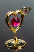 Valentine's Day Golden Heart — Stock Photo