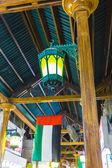арабская улица фонарей в городе дубай — Стоковое фото