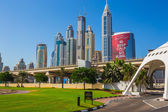 High rise buildings and streets in Dubai, UAE — Foto de Stock
