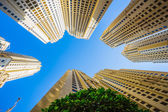 High rise buildings and streets in Dubai, UAE — Stock Photo