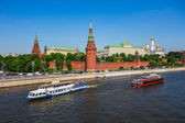 Moskva River near the Kremlin — Stockfoto