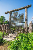 Old wooden bridge — Stockfoto