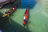 Turisté cestovat na gondole — Stock fotografie