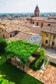 Landschap met huis daken — Stockfoto