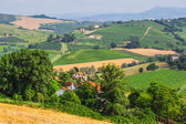 Rural landscape with houses in Tuscany — Stock Photo