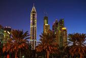 High rise buildings in Dubai — Stock Photo