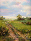 Landscape painting — Stock Photo