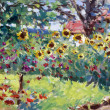 Stock Photo: Summer motif painting