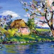 Stock Photo: Spring motif painting