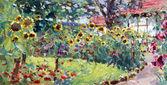 Pintura con motivos de verano — Foto de Stock