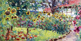 Sommaren motiv målning — Stockfoto