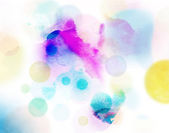 Abstract circles pattern on watercolor — Stock Photo