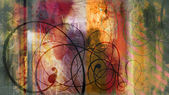 Swirls on colorful mixed media — Zdjęcie stockowe