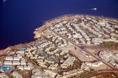 View to Sharm El Sheikh from plane — Stock Photo