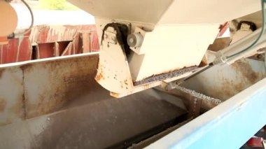 Transport von sand und anderen — Stockvideo