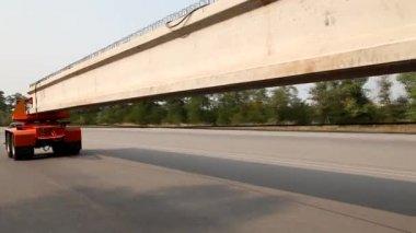 Construction of Bridge — Stock Video