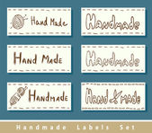 Handmade labels. — Stock Vector