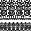 Black openwork lace seamless border. - Stock Vector
