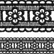 Royalty-Free Stock Vector Image: Black openwork lace seamless border.